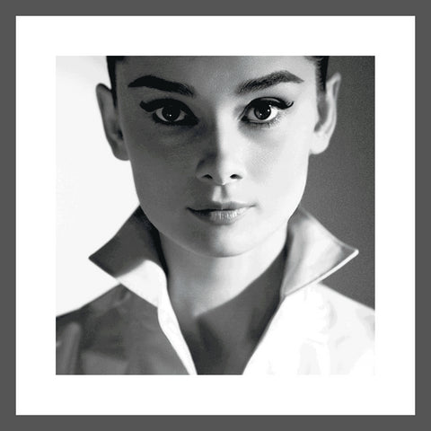 Silver Framed Audrey Hepburn Black & White and Colour Lenticular  by Matthew Andrews