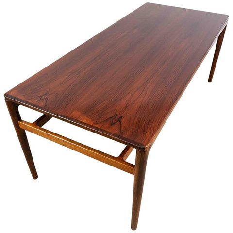 1960s Large Danish Rosewood  Coffee Table Ole Wanscher Style