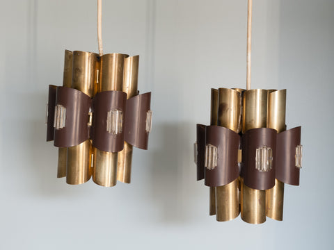 Pair of 1960s Pendant Lights by Werner Schou