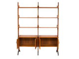 1960's Italian Teak Veneer Wall Unit by AV Arredamenti Contemporanei
