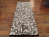 1960s Black and White Mosaic Coffee Table