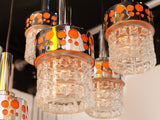 1970S Dutch Raak Five Shade Chrome Hanging Light