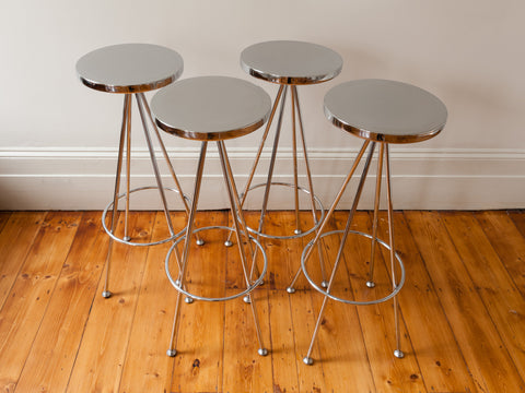 Retro Vista Chrome Bar Stools