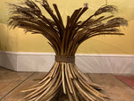 1960s French Gilt Metal Coco Chanel Wheat Sheaf Coffee Table
