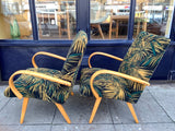 1960s Pair of Czech Armchairs by Jaroslav Smidek for Ton