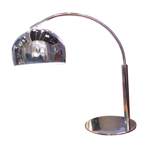 1970s Vintage Chrome Desk Table Lamp
