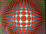 OP ART - VASARELY FRAMED PRINT