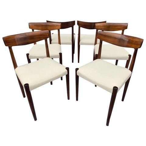 Set of 6 Rosewood Danish Knud Færch Dining Chairs