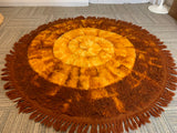 1960s Round Shag Rya Rug by Quayle & Tranter Carpets of  Kidderminster