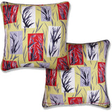 Vintage Cushions - Bamboo Leaves. Circa 1950