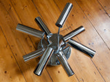 1960s Chrome Flush Mount Ceiling Light by Sciolari