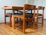1970s German Copper, Resin and Rosewood Coffee or Dining Table