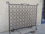 Wrought Iron Fire Guard with Poker