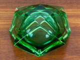 VINTAGE MURANO SOMMERSO GREEN ART GLASS BOWL