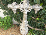 FRENCH ARCHITECTURAL CAST IRON DECORATIVE CROSS