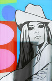 "Brigitte Bardot Painting ""Jazz No.5"" by artist Dan Reaney"