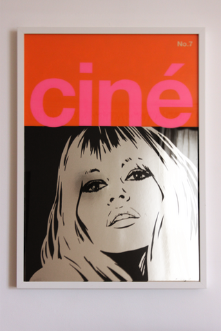 Brigitte Bardot CINE painting by Dan Reaney