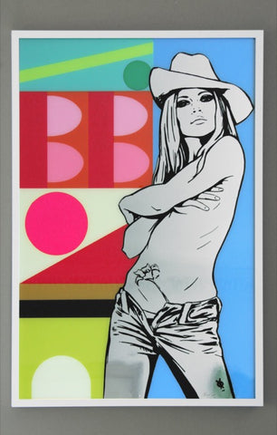 "Brigitte Bardot Painting ""Jazz No.7"" by artist Dan Reaney"