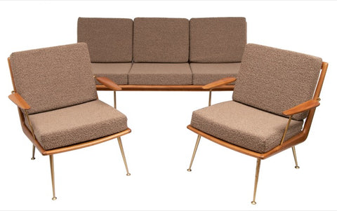 1950s Boomerang Sofa & 2 Chairs by Hans Mitzlaff for Soloform Germany