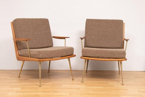 Pair of 1950s Boomerang Armchairs by Hans Mitzlaff for Soloform Germany