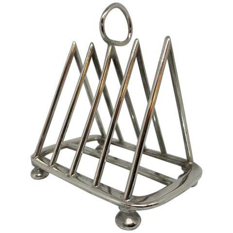 Circa 1900 Walker & Hall Silver Plate Toast Rack