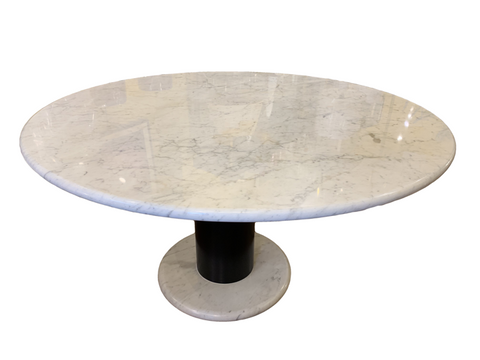Italian Carrara Marble Dining Table Lotorosso by Ettore Sottsass for Poltronova