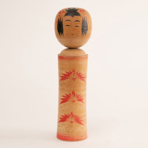 Early 20th Century Japanese Hand-Painted Kokeshi Doll
