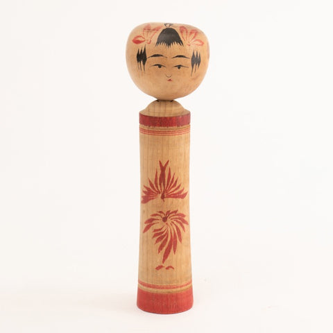 1960s Japanese Hand-Painted Kokeshi Doll