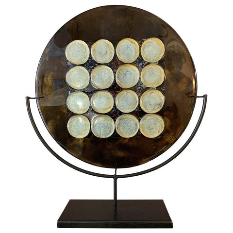 Modernist Murano Glass 12 Circle Display Plate