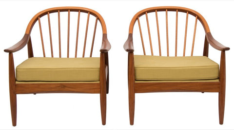 1960s Greaves & Thomas Teak Bentwood Armchairs