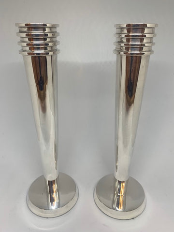 Pair of 1930s Art Deco Candlesticks