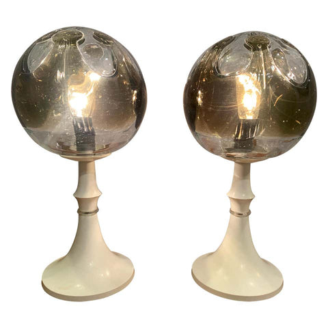 Pair of 1960s Kaiser Leuchten Mazzega Table Lamps