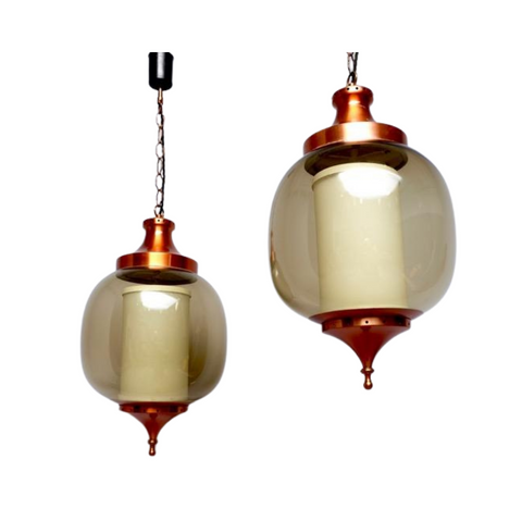 Pair of 1960s 'Lumiere' Pendant' Hanging Lights