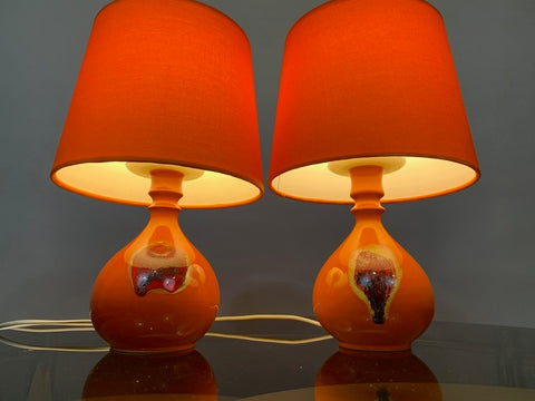 Pair of Small Ceramic Table Lights by Bjorn Wiinblad for Rosenthal