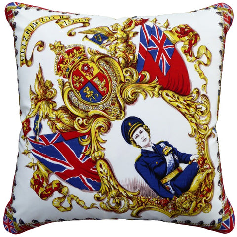 Vintage Cushions - Queen's Crown. Circa 1950 & 1980
