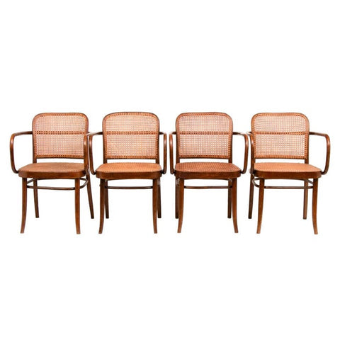 Set of 4 Model A811 Hoffman Armchairs for Thonet