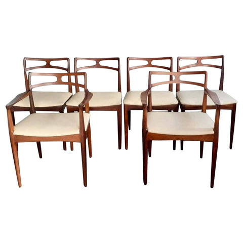 Six 1960s Danish Rosewood Dining Chairs by Johannes Andersen