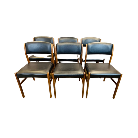 Set of 6 1960s Spøttrup Rosewood Dining Chairs