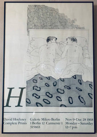 Framed Poster by David Hockney- 'Two Boys Aged 23 or 24'