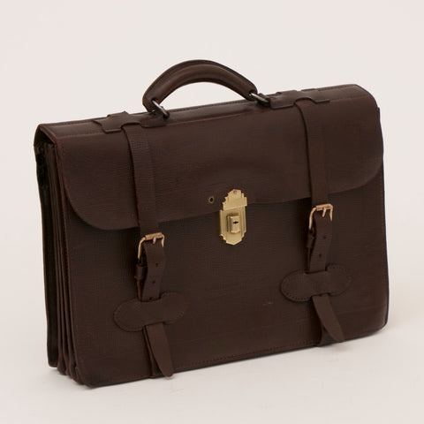 U.S. WWII Navigational Leather Briefcase Type MB-1