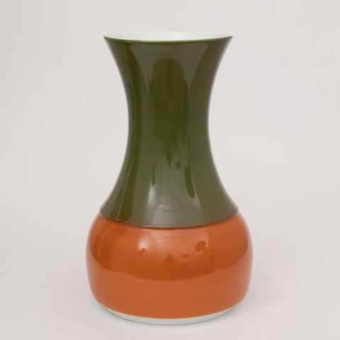 Large 1970s Orange and Green Ceramic Floor Vase by Thomas of Germany
