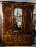 Victorian Burr Walnut Mirrored Wardrobe