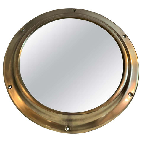Vintage Solid Brass Mirrored Porthole