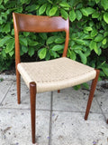 Vintage set of 6 Niels O. Møller Teak Dining Chairs Model 77 + 57