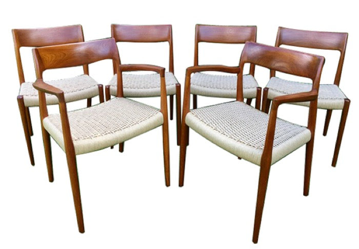Populære Vintage set of 6 Niels O. Møller Teak Dining Chairs Model 77 + 57 OH-67