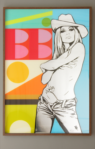 "Brigitte Bardot Painting ""Jazz No.3"" by artist Dan Reaney"