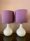Pair of 1980s Danish White 'Helios' Table Lamps