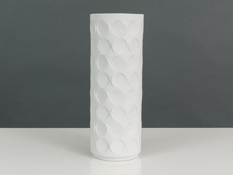 1970's White Bisque Porcelain Winterling 3-D Spotted Vase