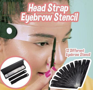 Head Strap Eyebrow Stencil - 12 shapes