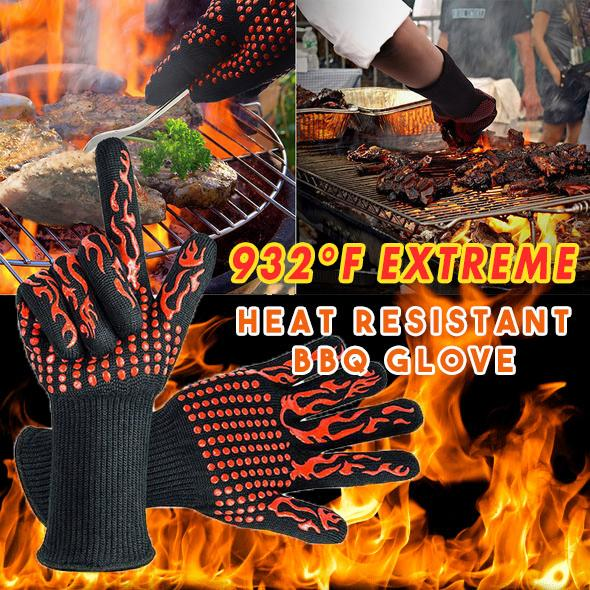 932°F Extreme Heat Resistant BBQ Glove